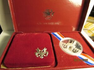 1984 S Olympic Los Angeles Silver Dollar Proof in Mint box with COA
