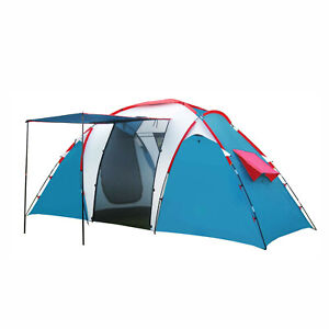 2-6 People Large Waterproof Automatic Portable Outdoor PopUp Tent Camping Hiking