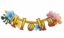 Hawaiian Hibiscus Aloha Bunting Banner Garland Celebration BBQ Garden Party