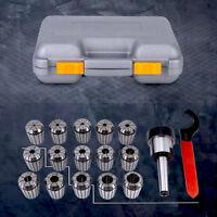 ER32 Spannzangenfutter Satz + MT2 Fräshalter + Spanner für Fräsmaschine mit Box