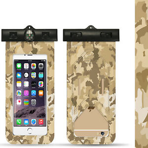 Universal Waterproof Armband Dry Bag Army Camou Pouch For All Smartphones Cover