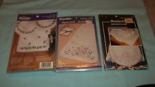 Bucilla/WonderArt Lot of 3 Dresser Scarves to Cross Stitch Stamped New