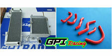 GPI RH&LH aluminum Radiator &red HOSE Honda RVF400 NC35 or NC30 VFR400