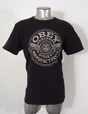 Obey dissent manufacturing men's t-shirt black L new
