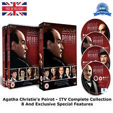 Agatha Christie's Poirot ITV Complete Collection 8 Brand New Sealed Region 2 DVD