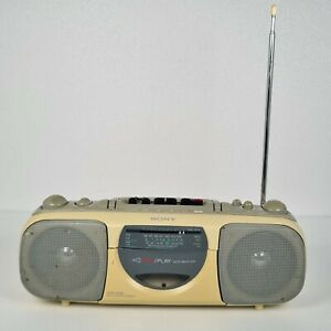 Sony CFS-E10L Vintage Radio Cassette Player Recorder  Tested radio working only