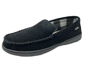 Clarks Mens Suede House Shoe Indoor Outdoor Slip Resistant Comfort Slipper