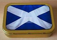 2 x New Tobacco Storage Tin With Scotland Flag 2oz