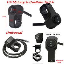 12V Motorcycle Handlebar Grip Headlight Bike Fog Light Indicator On Off Switches