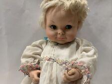 "Vintage Uneeda Doll Co 1964 - Doll in Dress And Slip- Plastic & Foam - 16"""