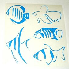 HOT SALE Kit 5 adesivi Marine pesce decal mare sea fish aquario sealife murale