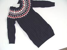 H&M Sweater Dress Navy Cable Girls Girl Size 2 3 4 Years NWT NEW Sweater