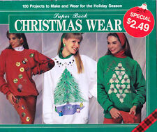 Plaid 1991 Super Book of Christmas Wear - 100 Projects Multi Crafts Unused Uncut