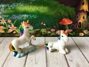 Fairy Garden Miniature Unicorn Set Of Two