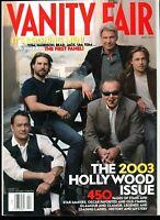 April 2003 Vanity Fair Magazine. Tom Hanks, Cruise, Ford, Pitt, Jack Nicholson