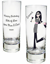 Personalised Fabulous Shot Glass 18th 21st 30th Birthday Hen Party Present Gifts