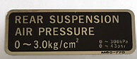 HONDA VFR1000R FORK AIR PRESSURE CAUTION WARNING LABEL DECAL