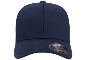 FLEXFIT TWILL CAP 6277 STRETCH FITTED HAT - NAVY
