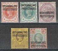 BECHUANALAND 1897 QV GB OVERPRINT RANGE TO 4D