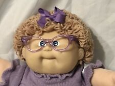 1986 Cabbage Patch Doll. Wheat Long Loop, Kt Body Tag,Hm #8 Glasses