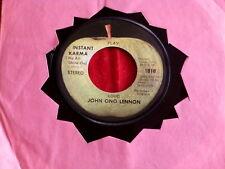 JOHN ONO LENNON~ INSTANT KARMA~ WHO HAS SEEN THE WIND~ NEAR MINT~ APPLE ~ POP 45
