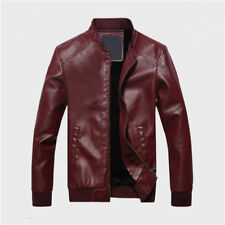 Men's Lambskin Leather Jacket Black Slim Fit Biker Motorcycle Jacket Coat New .