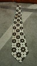 Cravatta  Tino Cosma   tie necktie  vintage Flower rare brown beige