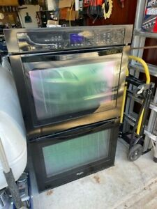 """Black Frigidaire 30"""" Electric Double Convection Wall Oven"""
