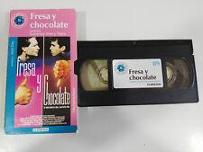FRESA Y CHOCOLATE TOMAS GUTIERREZ ALEA TABIO VHS CAJA CARTON CASTELLANO EL MUNDO