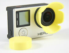 Sonnenblende Lens Hood GoPro Go Pro HERO 3+, 4  Linse Sun Shade gelb yellow