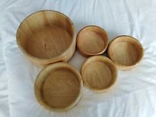 Wooden Salad Bowl Set. 1 large, 1 medium, 3 small. Goldilocks!