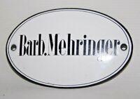 Barb.Mehringer Vintage Original Arts & Crafts Name Enamel Plaques 11 x 7 cm