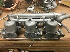 JAGUAR XKE 3.8 E-TYPE TRIPLE SU CARBURETOR SET HD8 COMPLETE CARBS. & MANIFOLDS