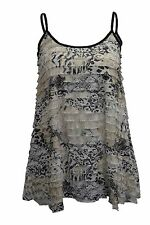 Textured Semi Fitted Sleeveless Hip Length Women's Tops & Shirts