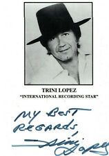 Autogramm - Trini Lopez