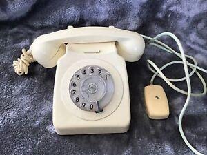 Vintage Retro 746F Cream GPO Dial Telephone