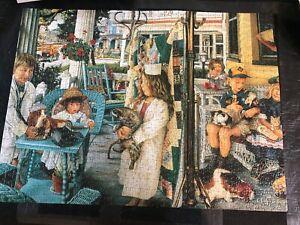 """Ravensburger 1000 piece jigsaw puzzle """"Front Porch Vet"""""""