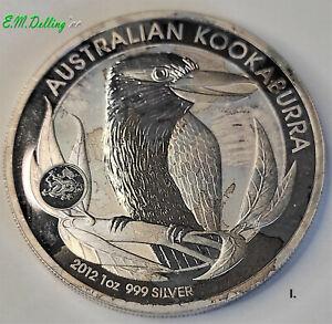 1 oz Kookaburra 2012 999er Silber mit Privy Mark Drachen