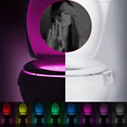 Body Sensing Automatic Motion Sensor Night Lamp Toilet Bowl Bathroom Light Lot