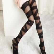 Lady Sexy Girl Lady Funky Pantyhose Black Ripped Stretch Mock Stocking N7