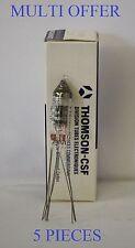 6021 Thomson Logo fil fin double triode 5 pieces total Valve Tube