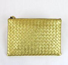 $695 NEW BOTTEGA VENETA Intrecciato Woven Leather Clutch Pouch Bag, 302293 8417