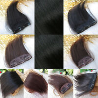 Handsome Men Real Remy Human Hair Extension Hairpiece Clip In Fringe Front Bangs