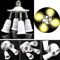 3/4/5 in1 Adjustable E27 Base Light Lamp Bulb Adapter Holder Socket Splitter US