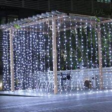 3M*3M 300LEDs White Mesh Net Curtain Fairy String Lighting F Party Xmas Wedding