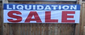 Liquidation Sale Clearance Banner Sign Outdoor Vinyl Mesh Going out of Business
