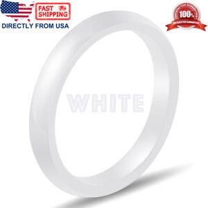 Ceramic Wedding Band Women's Men's Durable Hypoallergenic Comfort Fit 3mm Ring