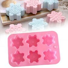 Snowflake Chocolate Mold Soap Silicone Ice Tray Cake Christmas Mould Household