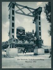 Verkehrsausstellung München Bundesbahn Liliputbahn Schmalspur Bundespost MAN ´53