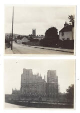WELLS Somerset Views in the Town - 2x Vintage Photographs c1930s